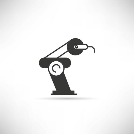 robot arm: Industrial mechanical robot arm icon