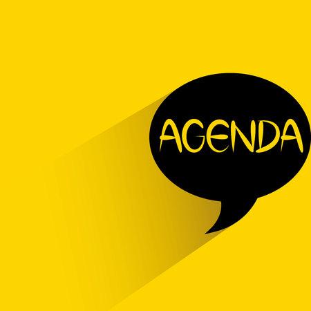 agenda: agenda Illustration