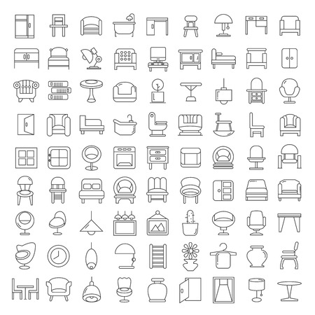 furniture icons 矢量图像