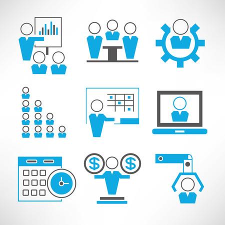 icônes de gestion de l'organisation