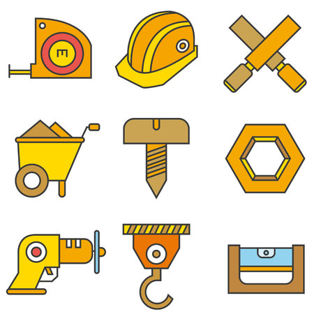 reamer: construction tool icons