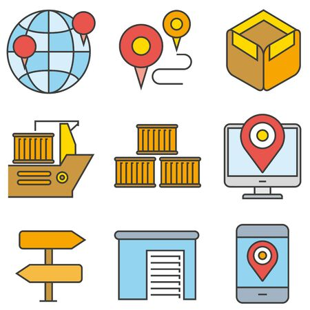 directions icon: shipping icons Illustration
