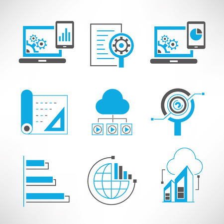 data analytics and network icons