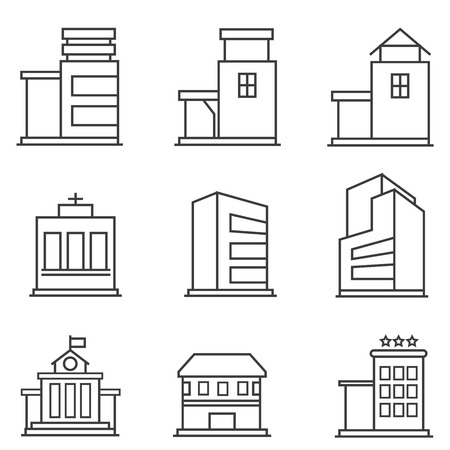 office building: building icons