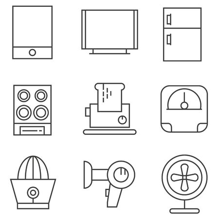 bread maker: home appliance icons