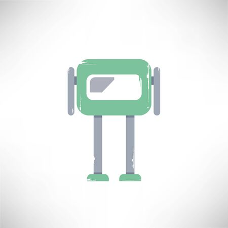 cute: cute robot Illustration