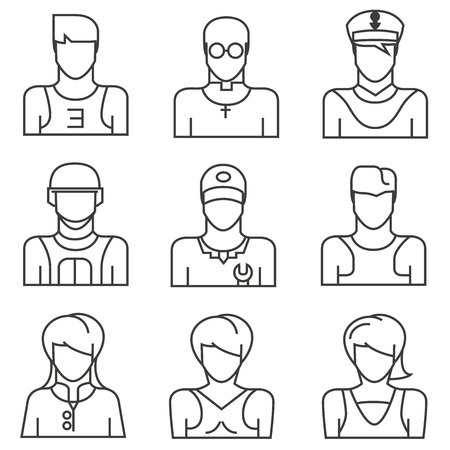 solider: people icons Illustration