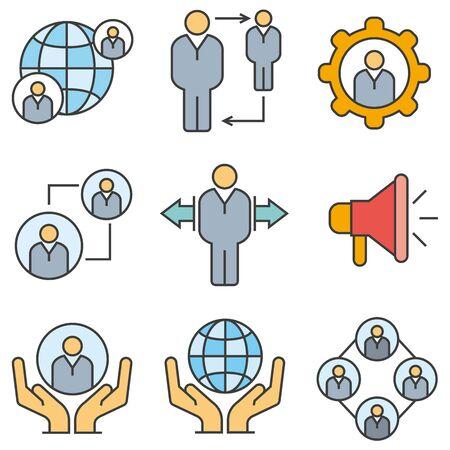 gear symbol: business management icons Illustration