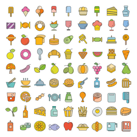 food and sweets icons