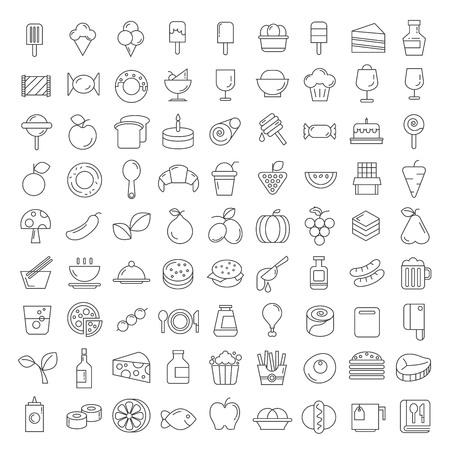 Alimentación y bebidas iconos