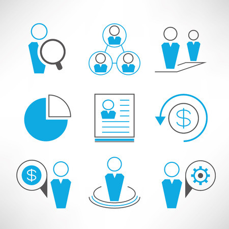 resource: human resource and business icons