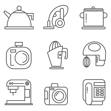 electronic device: home appliance, electronic device icons