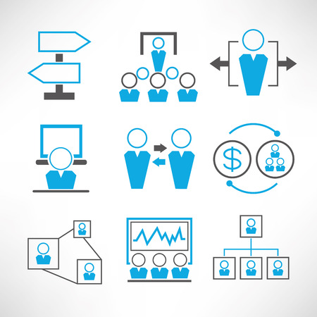workmate: business management icons Illustration