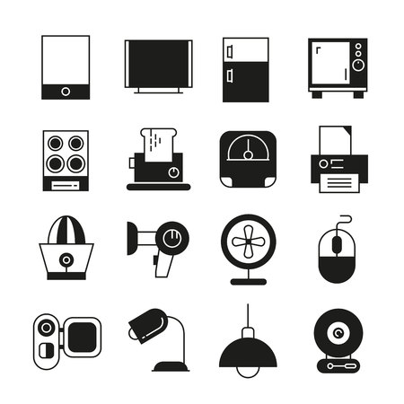 home appliance: home appliance icons