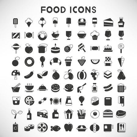 Les icônes de nourriture