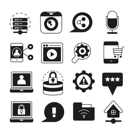 camera symbol: social media icons
