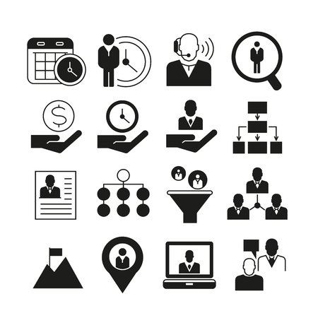 job icon: business management icons Illustration