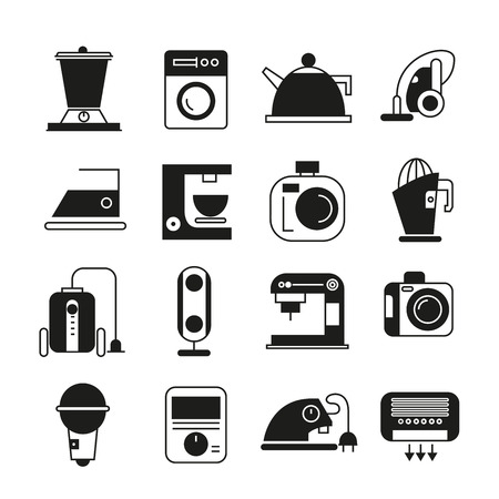 hoover: home appliance icons