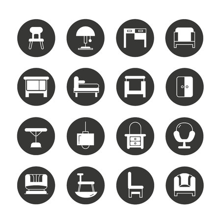 davenport: furniture icons Illustration