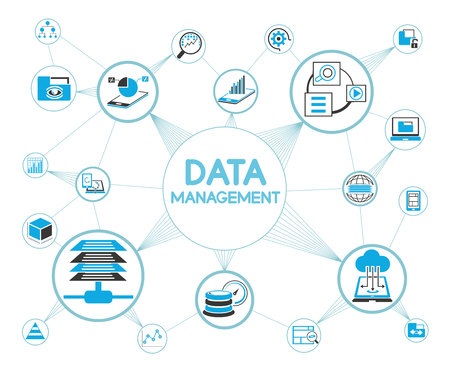 data management concept Stock Vector - 70748860