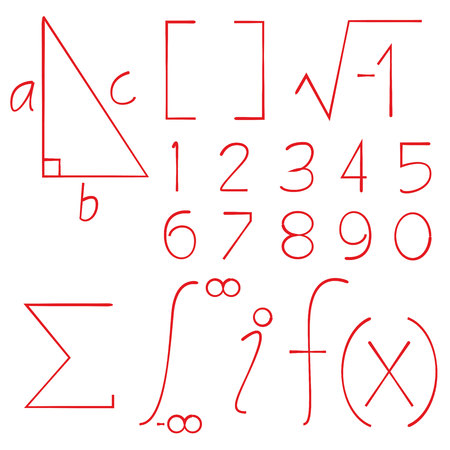 math sign and number Illustration