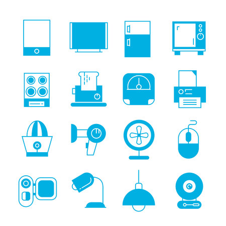 home video camera: home appliance icons