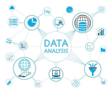 computer keys: data analysis concept