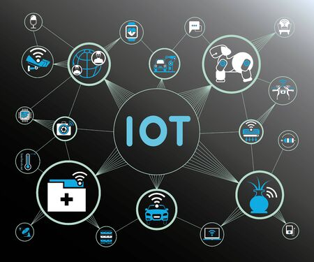 internet network: internet of things concept