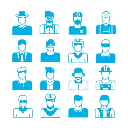 artisan: people icons, profession icons Illustration