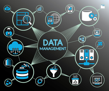 Data management and big data concept.