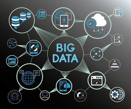 Análisis de datos y gran concepto de datos. Foto de archivo - 74438470