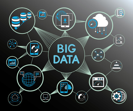 Data analytics and big data concept. Illustration