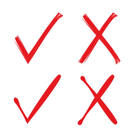 lien: red check mark and wrong mark