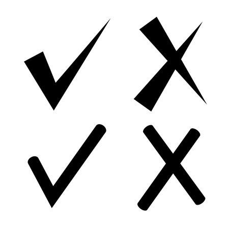 lien: check mark and wrong mark Illustration