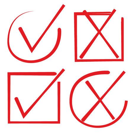 lien: red check list Illustration