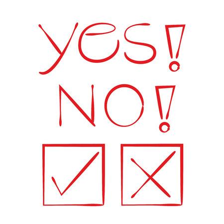 Sí, no y lista de verificación