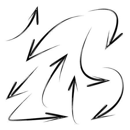 designator: hand drawn arrows Illustration