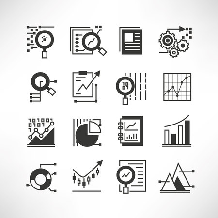 compute: data analytics icons Illustration