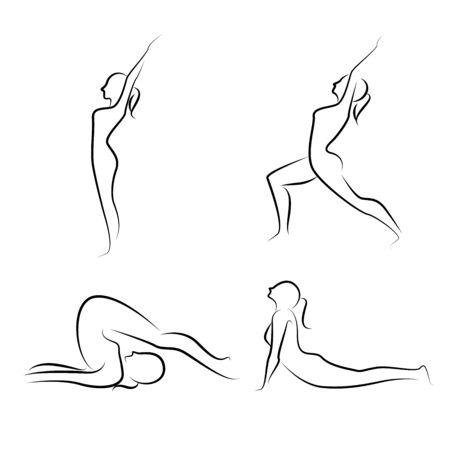 yoga postures Illustration