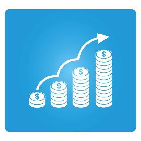 profit growth concept Illustration