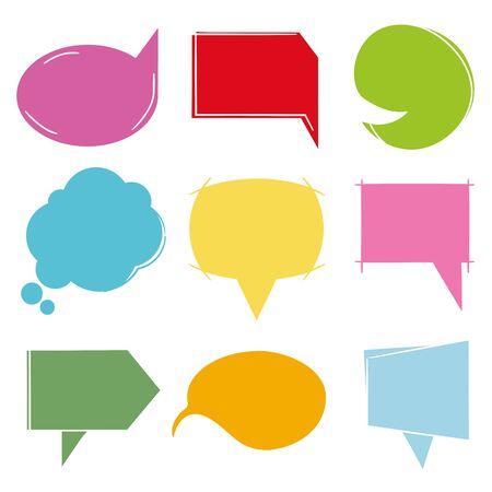 colorful comic speech bubbles