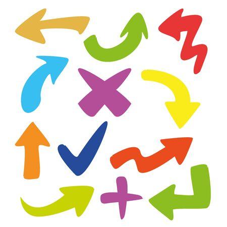 colorful cartoon arrows