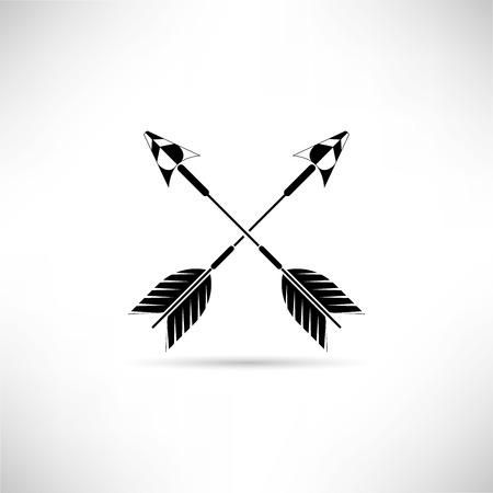 Cross arrows, dart