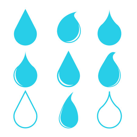 blue water drop icons