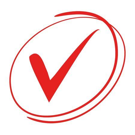 validation: Red check mark Illustration