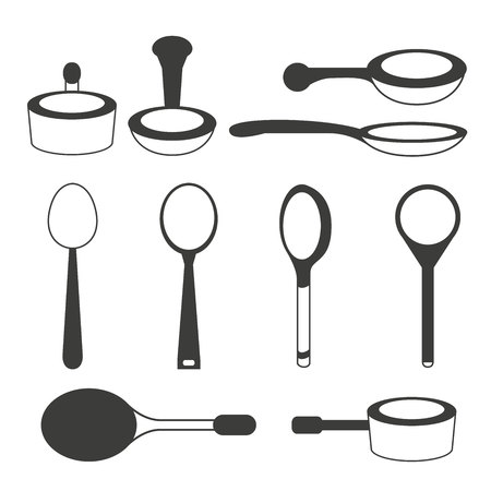 chefs cooking: spoon, utensil icons
