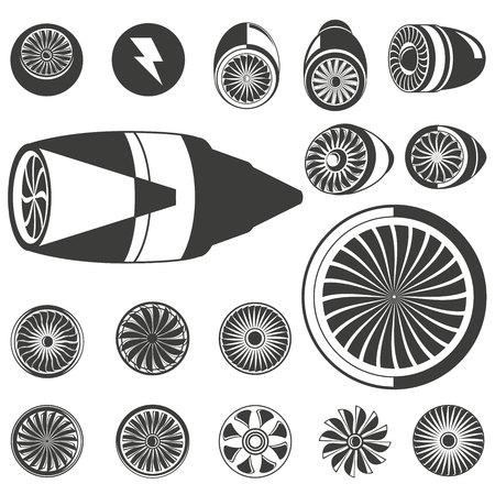Jet-Blades, Jet-Engine-Symbole Standard-Bild - 76822235