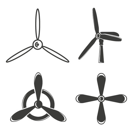 Wind turbine, jet blade icons