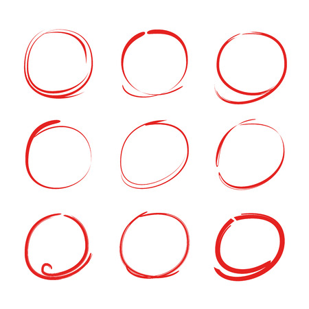 red circle highlighter elements