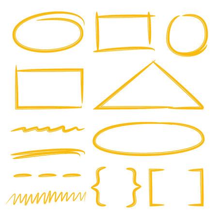 yellow marker elements 向量圖像